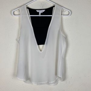 BCBGeneration- Black & White Dressy Tank size xs